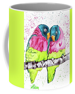 Lovebirds Coffee Mug by D Renee Wilson