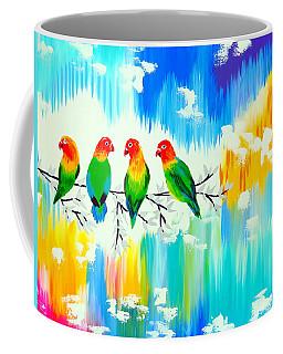 Lovebirds On A Branch Coffee Mug