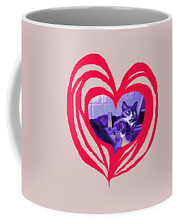 Loveheart Kitty Coffee Mug