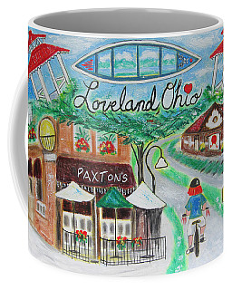 Coffee Mug featuring the painting Loveland Ohio by Diane Pape