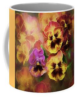 Lovely Spring Pansies Coffee Mug by Diane Schuster