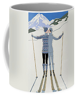 Lovers In The Snow Coffee Mug by Georges Barbier