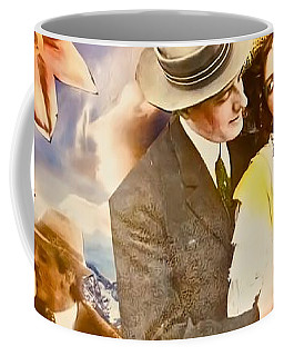 Coffee Mug featuring the mixed media Lovers Together by Joan Reese