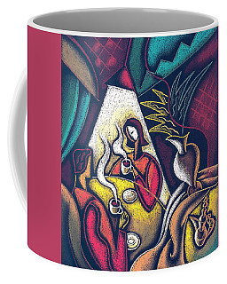 Coffee Mug featuring the painting Loving Relationship by Leon Zernitsky