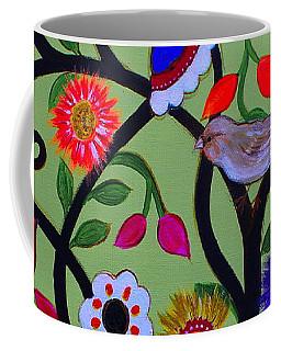 Coffee Mug featuring the painting Loving Tree Of Life by Pristine Cartera Turkus