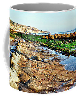 Low Tide At Bowling Ball Beach Coffee Mug