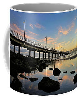 Low Tide Reflections At The Pier  Coffee Mug
