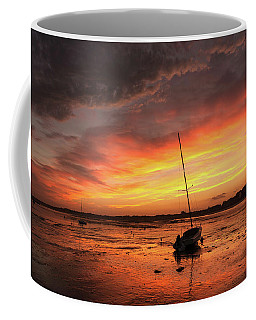 Low Tide Sunset Sailboats Coffee Mug