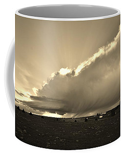 Low-topped Supercell Black And White  Coffee Mug