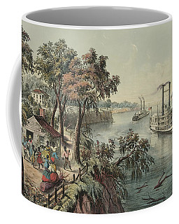Low Water In The Mississippi, 1868  Coffee Mug