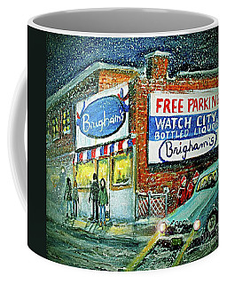 Coffee Mug featuring the painting Lower Brigham's by Rita Brown