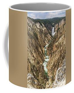 Lower Falls Of The Yellowstone - Portrait Coffee Mug