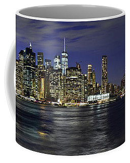 Lower Manhattan From Brooklyn Heights At Dusk - New York City Coffee Mug