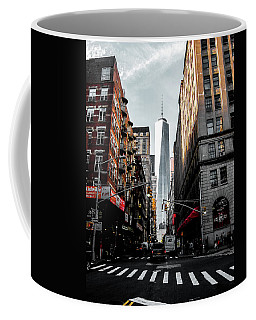 Coffee Mug featuring the photograph Lower Manhattan One Wtc by Nicklas Gustafsson