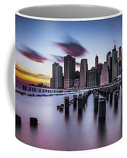 Lower Manhattan Purple Sunset Coffee Mug