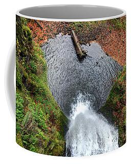 Lower Multnomah Falls From Benson Bridge - Columbia Gorge Coffee Mug by Gary Whitton