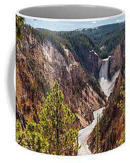 Lower Yellowstone Canyon Falls 5 - Yellowstone National Park Wyoming Coffee Mug