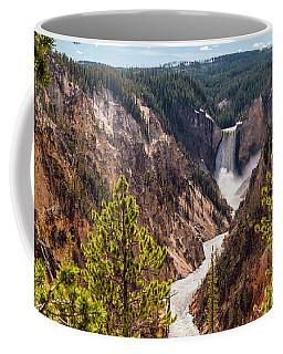 Lower Yellowstone Canyon Falls 5 - Yellowstone National Park Wyoming Coffee Mug