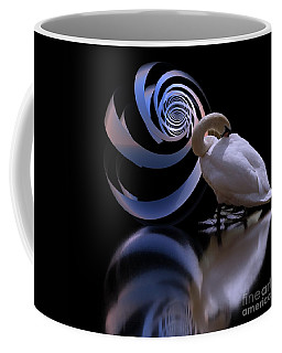 Loxodrome And Swan Coffee Mug