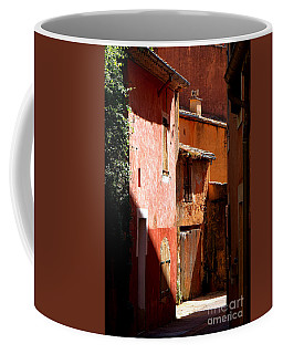 Coffee Mug featuring the photograph Luberon Village Street by Olivier Le Queinec