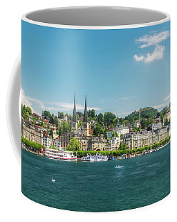 Coffee Mug featuring the photograph Lucerne Panorama by Wolfgang Vogt