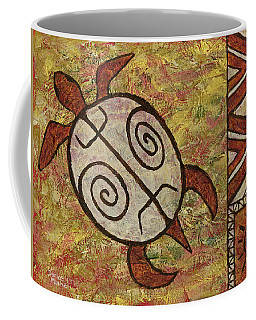 Coffee Mug featuring the painting Lucky Honu by Darice Machel McGuire