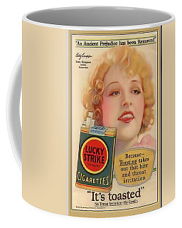 Coffee Mug featuring the digital art Lucky Strike Poster by Chuck Staley
