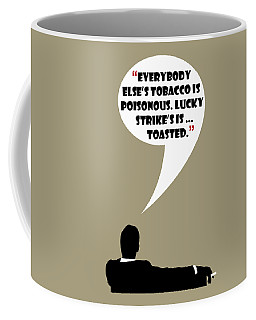 Lucky's Tobacco - Mad Men Poster Don Draper Quote Coffee Mug