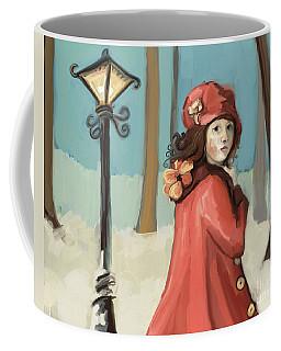 Girl In The Snow Coffee Mug by Carrie Joy Byrnes