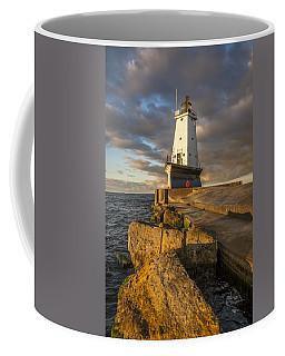 Ludington North Breakwater Lighthouse At Sunrise Coffee Mug