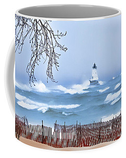 Ludington Winter Shore  Coffee Mug