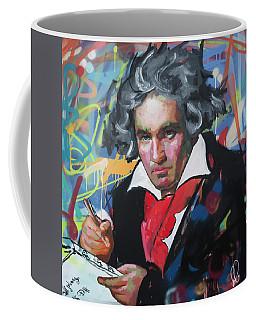 Ludwig Van Beethoven Coffee Mug by Richard Day