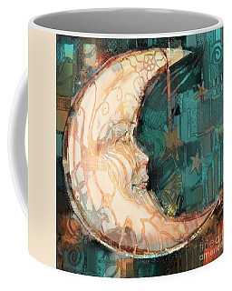 Coffee Mug featuring the painting Luna by Carrie Joy Byrnes