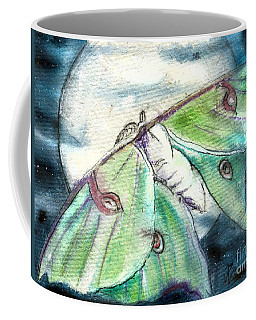 Luna Moth Full Moon Coffee Mug
