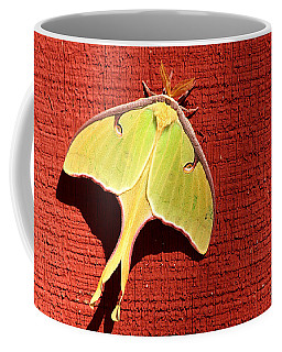 Luna Moth On Red Barn Coffee Mug