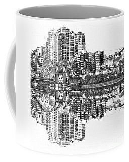 Coffee Mug featuring the photograph Luna Park Pencil Ink By Kaye Menner by Kaye Menner