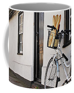 Coffee Mug featuring the photograph Lunch French Style By Bicycle In Cambridge by Gill Billington