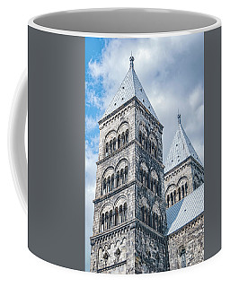 Coffee Mug featuring the photograph Lund Cathedral In Sweden by Antony McAulay