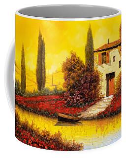 Lungo Il Fiume Tra I Papaveri Coffee Mug