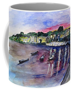 Coffee Mug featuring the painting Luogo Mergellina, Napoli by Clyde J Kell