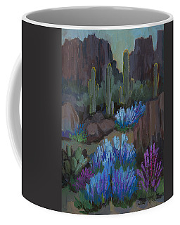 Coffee Mug featuring the painting Lupine In Bloom At Boyce Thompson Arboretum by Diane McClary