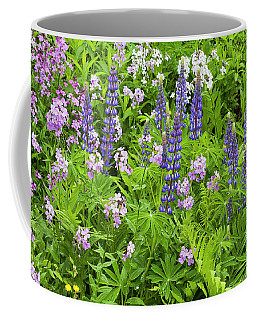Coffee Mug featuring the photograph Lupines And Dames Rocket by Alan L Graham