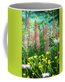 Coffee Mug featuring the photograph Lupines by Mark Mille
