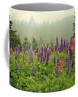 Lupins In The Mist Coffee Mug