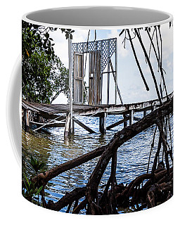 Coffee Mug featuring the photograph Lurking In The Shadows by Lawrence Burry