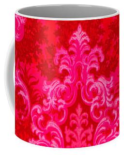 Luscious Neo Baroque Hot Pink Bubblegum Damask Coffee Mug