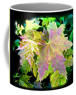 Coffee Mug featuring the mixed media Lush Spring Foliage by Will Borden