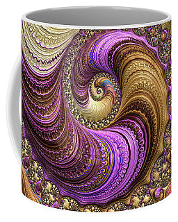 Luxe Colorful Fractal Spiral Coffee Mug