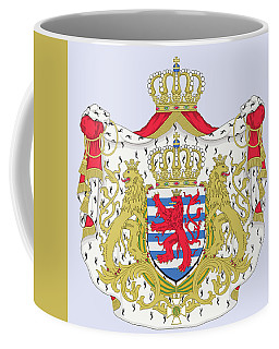 Coffee Mug featuring the drawing Luxembourg Coat Of Arms by Movie Poster Prints