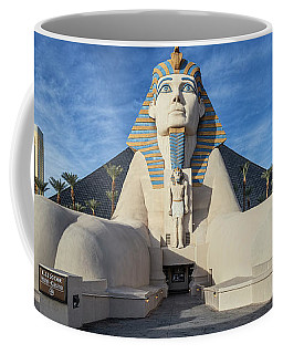 Luxor Casino Egyptian Pharaoh Las Vegas Wide Cloudy Coffee Mug